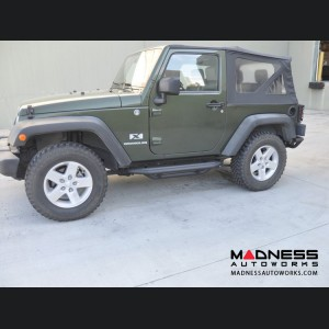 Jeep Wrangler JK Rock Slider - Textured Black Powder Coat Finish - 2 Door