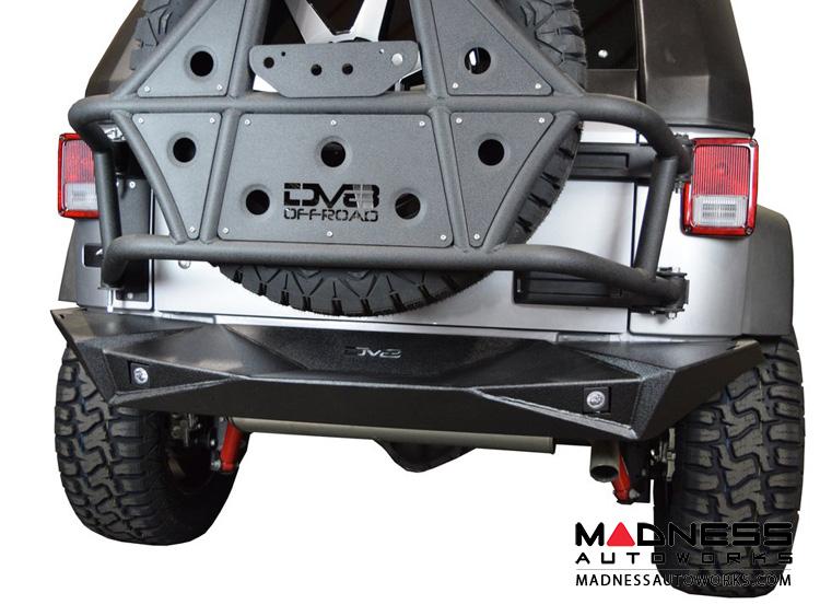 Jeep Wrangler JK Off-Road Rear Bumper - Full Width - Steel - RS-14
