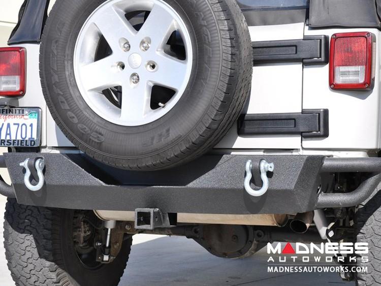 Jeep Wrangler JK Rear Bumper - Mid Width - Steel - RS-3