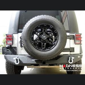 Jeep Wrangler JK Stubby Rear Bumper - Full Length - Steel - RS-6