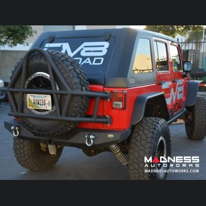 Jeep Wrangler JK Stubby Rear Bumper - Full Length - Steel - RS-6