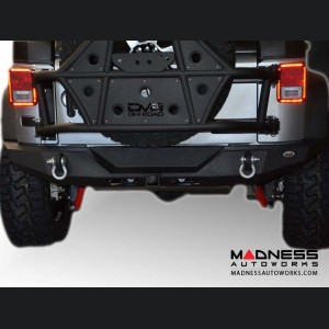 Jeep Wrangler JK Full Length Bumper - Rear - Textured Black Powder Coat