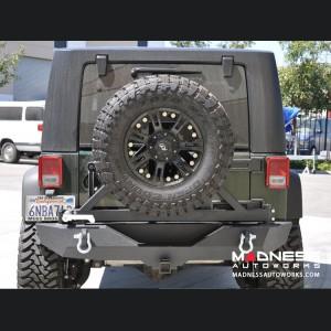 Jeep Wrangler JK Rear Bumper & Tire Carrier - Textured Black Powder Coating