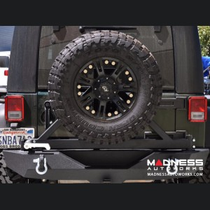 Jeep Wrangler JK Rear Bumper & Tire Carrier - Textured Black Powder Coating