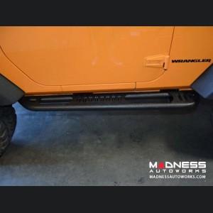 Jeep Wrangler JK SR-2 Rock Slider Steps - Black