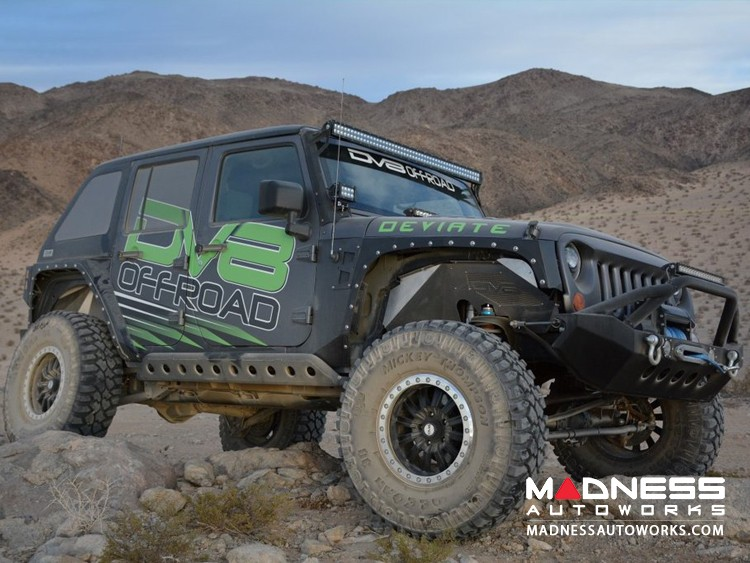 Jeep Wrangler JK Rock Slider - Textured Black Powder Coat Finish - 4 Door