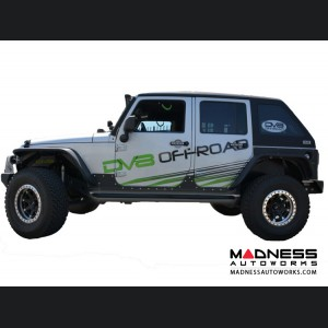 Jeep Wrangler JK Rock Slider Steps - Black Powder Coat - 4 Door