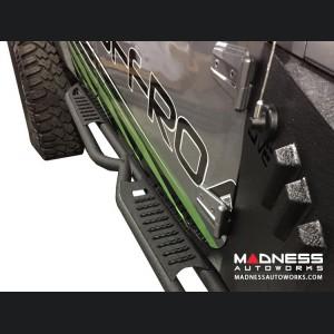 Jeep Wrangler JK Rock Slider Steps - Black Powder Coat - 4 Door