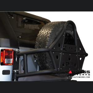 Jeep Wrangler JK Off- Road Body Mounted Tire Carrier - Black