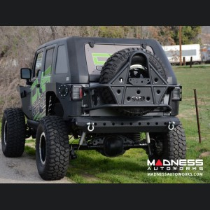 Jeep Wrangler JK Off- Road Body Mounted Tire Carrier - Black