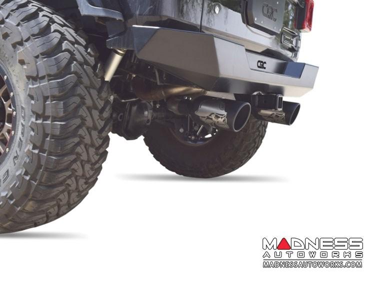 Jeep Wrangler JL Performance Exhaust System - Dual Exit Axle-Back - Metal Mulisha - Black Ceramic - 2.0L
