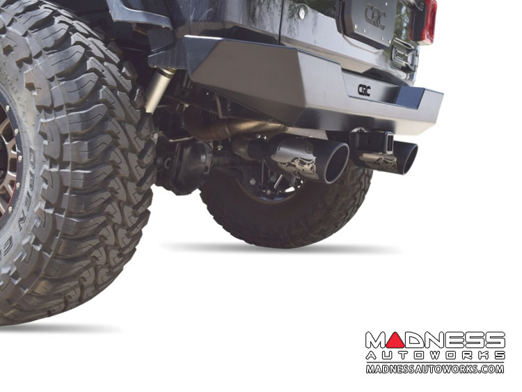 Jeep Wrangler JL Performance Exhaust System - Dual Exit Axle-Back - Metal Mulisha - Black Ceramic - 2.0L