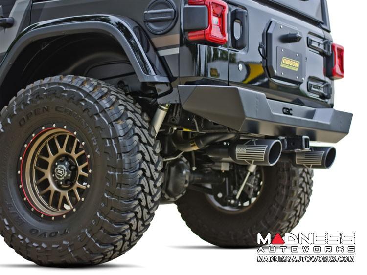 Jeep Wrangler JL Performance Exhaust System - Dual Exit Axle-Back - Patriot Series - Black Ceramic - 2.0L