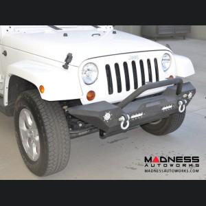 Jeep Wrangler JL Front Bumper w/ LED Lights - Mid Width - Steel - FS-7