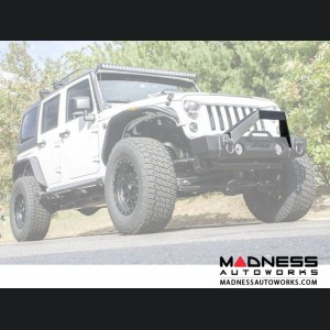 Jeep Wrangler JL Front Bumper Angular Brush Guard - Carbide Black Powder Coat