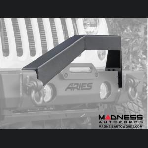 Jeep Wrangler JL Front Bumper Angular Brush Guard - Carbide Black Powder Coat