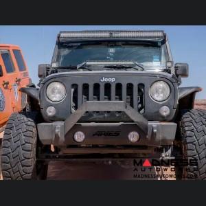 Jeep Wrangler JL Front Stubby Bumper w/ Brush Guard