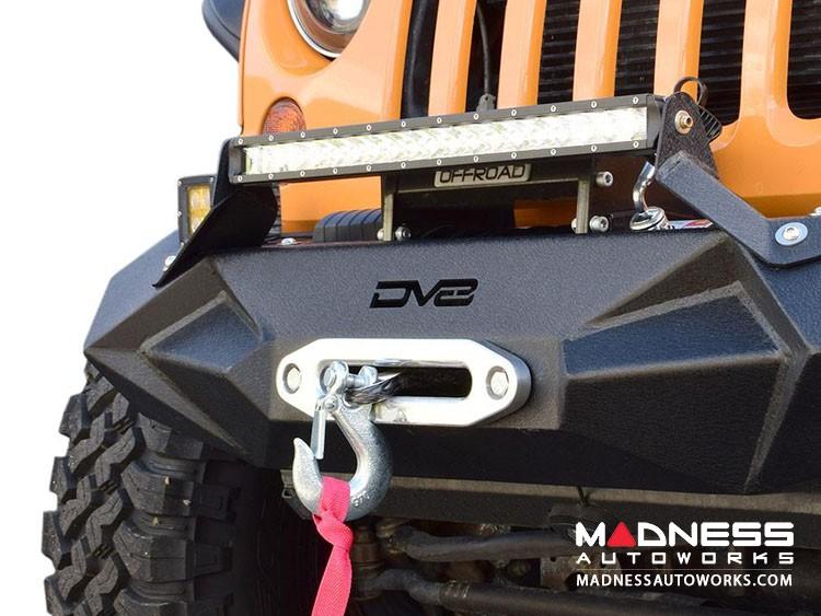 Jeep Wrangler JL Front Bumper w/ LED Lights - Mid Width - Steel - FS-24