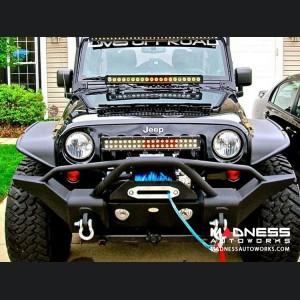 Jeep Wrangler JL Front Bumper - Mid Width - Steel - FS-1