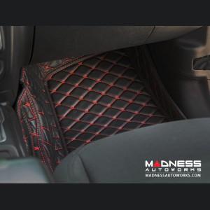 Jeep Wrangler JL Floor Liner Set - Black w/ Red Stitching - 4 Door
