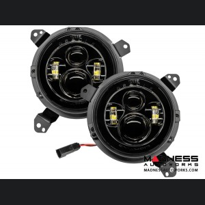 Jeep Wrangler JL High Powered LED Lights - Blue - Pair - 7""