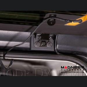 "Jeep Wrangler JL Rear Hard Top Bracket Kit w/ LED Light Bar -  White Flood - 30"""
