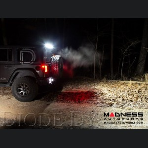 Jeep Wrangler JL Rear Hard Top Bracket Kit w/ LED Light Bar -  White Flood - 30""
