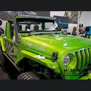"Jeep Wrangler JL LED Light Bar Mount Over Hood - 40"""