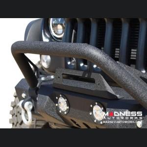 Jeep Wrangler JL Front Bumper w/ LED Lights - Mid Width - Steel - FS-11