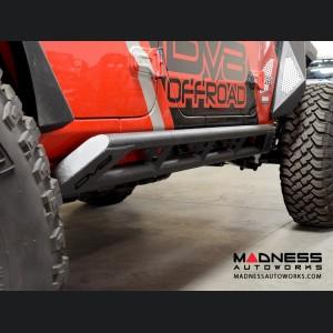 Jeep Wrangler JL Tubular Rock Sliders w/ Plated End Caps