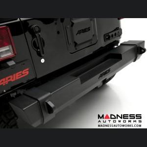 Jeep Wrangler JK TrailCrusher Rear Bumper - Carbide Black Powder Coat