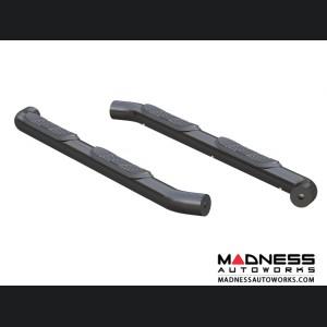 "Jeep Wrangler JL Round Semi-Gloss Side Bars - Black Steel - 3"""