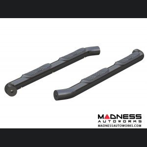 Jeep Wrangler JL Round Semi-Gloss Side Bars - Black Steel - 3""