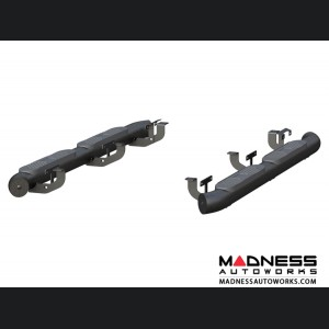 Jeep Wrangler JL Big Step Round Side Bars - Aluminum - 4""