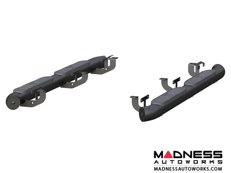 "Jeep Wrangler JL Big Step Round Side Bars - Aluminum - 4"""