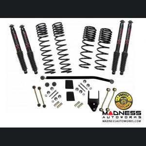 Jeep Wrangler JL 4WD Dual Rate-Long Travel Lift Kit System w/Black MAX Shocks - 3.5-4 in - 4 Door