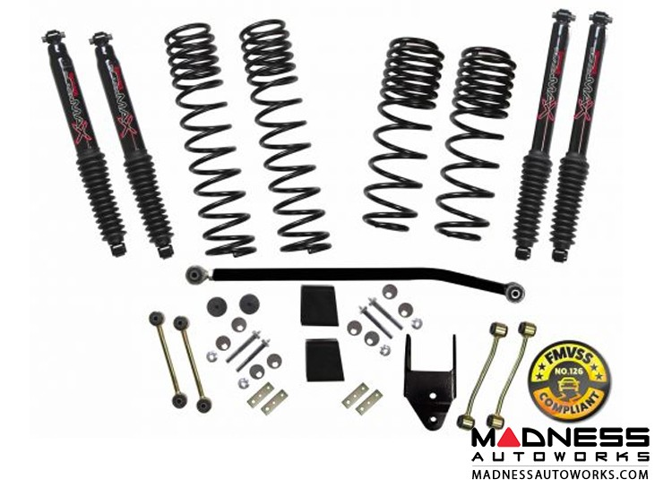 Jeep Wrangler JL Rubicon 4WD Dual Rate-Long Travel Lift Kit System w/Black MAX Shocks  - 3.5-4 in - 4 Door