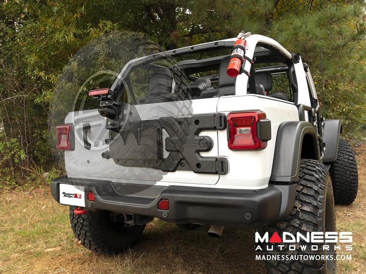 Jeep Wrangler JL Spartacus HD Tire Carrier w/ Wheel Mount
