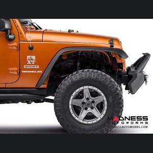 Jeep Wrangler JL Front Bumper w/ LED Lights - Mid Width - Steel - FS-8