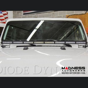 """Jeep Wrangler JL LED Light Bar w/ Bracket - 50"""" - White Flood"""