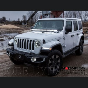 "Jeep Wrangler JL LED Light Bar w/ Bracket - 50"" - White Driving"