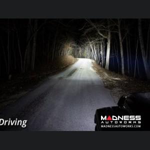 """Jeep Wrangler JL LED Light Bar w/ Bracket - 50"""" - White Driving"""
