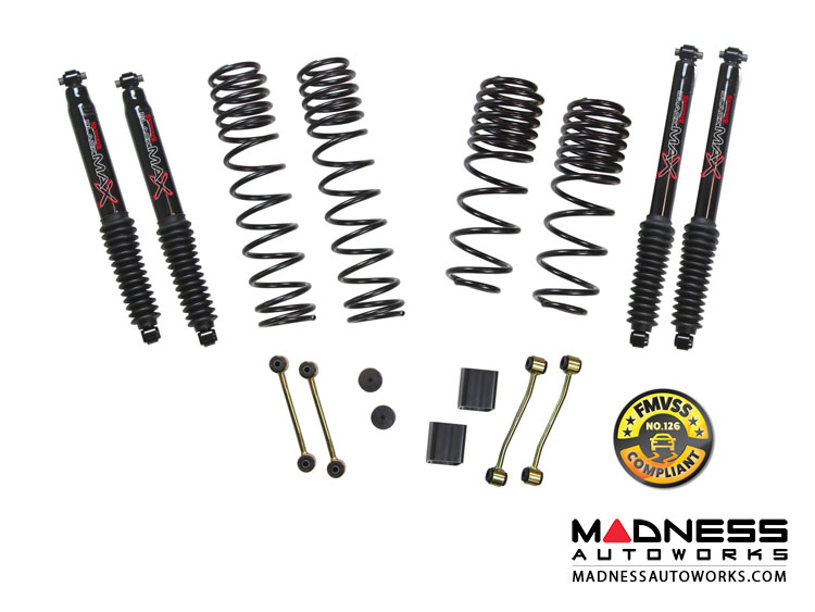 "Jeep Wrangler JL Dual Rate-Long Travel Lift Kit w/ Black MAX Shocks - 2 / 2.5"" - 2-Door - 4WD"