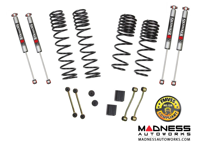 "Jeep Wrangler JL Lift Kit w/ Black M95 Shocks -  2 - 2.5"" - 2-Door Rubicon - 4WD"