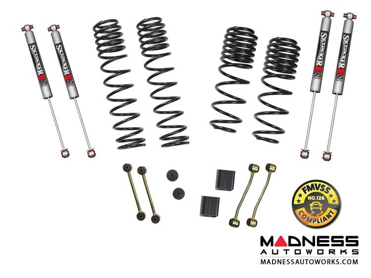 "Jeep Wrangler JL Lift Kit w/ Black M95 Shocks -  2 - 2.5"" - 2-Door Rubicon - 4WD"