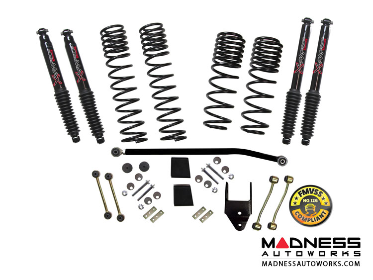 "Jeep Wrangler JL Lift Kit w/ M95 Shocks - 3.5"" - 2-Door Rubicon - 4WD"
