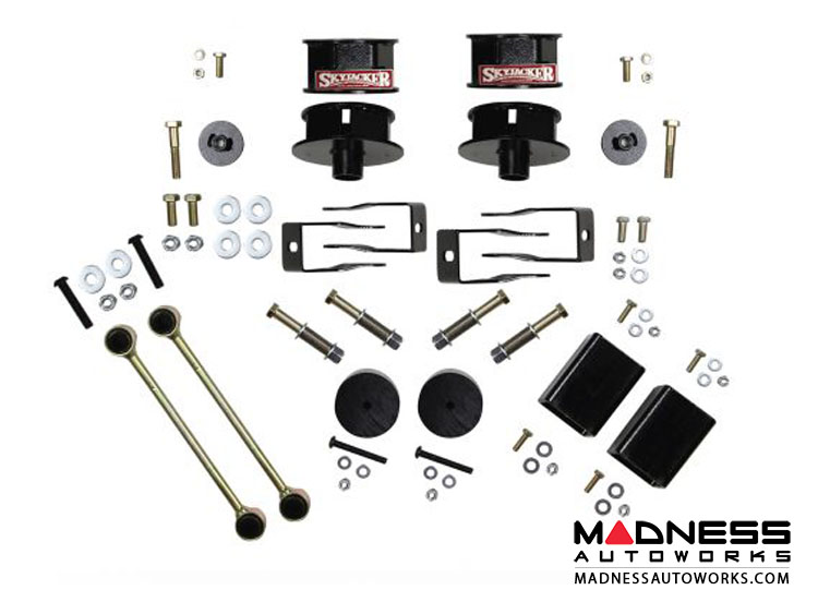 "Jeep Wrangler JL Metal Spacer Kit w/ Shock Extension Brackets - 2.5"" - All Models - 4WD"