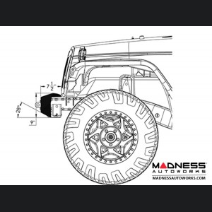 Jeep Wrangler JK Frame-Built Bumper Base w/Crawler Caps - #1201