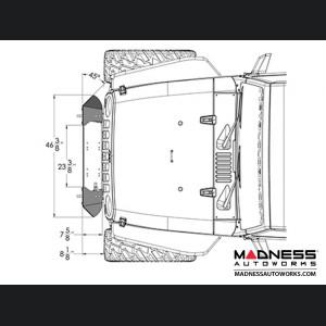 Jeep Wrangler JK Frame-Built Bumper Base w/Crawler Caps - #1202