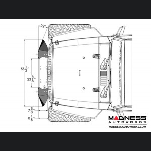 Jeep Wrangler JK Frame-Built Bumper Base w/Crawler Caps - #1400